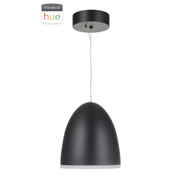 Studio Flat Black LED Pendant, image 1