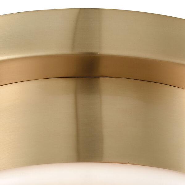 Riley Satin Brass One-Light Flush Mount, image 5