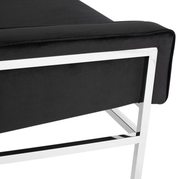 Theodore Black and Silver Occasional Chair, image 4