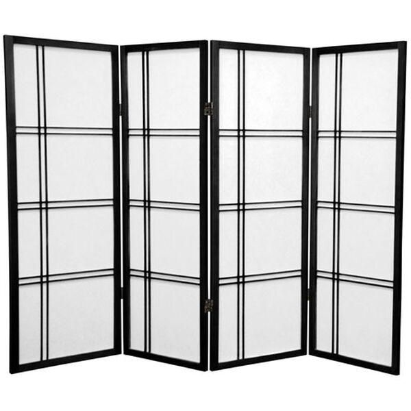 Four Ft. Tall Double Cross Shoji Screen, Width - 69 Inches, image 1