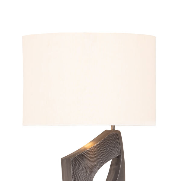 Fiora Aged Pewter and White Marble One-Light Table Lamp, image 3
