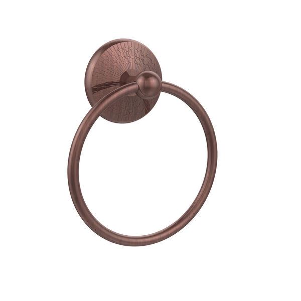 Monte Carlo Antique Copper Towel Ring, image 1