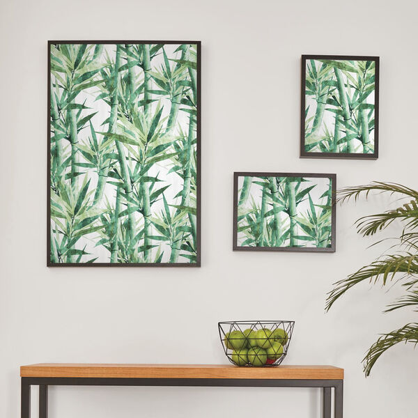 Lucky Bamboo Green And White Peel and Stick Wallpaper, image 4