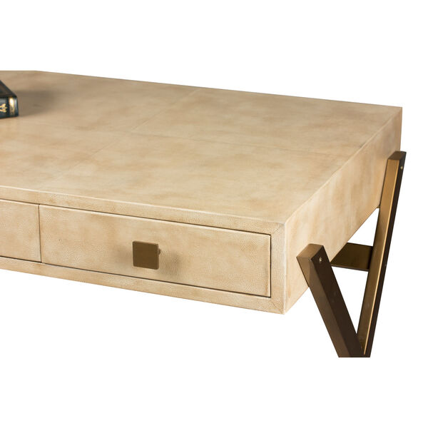 Beige Stuart Leather Desk, image 11