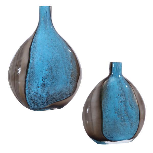 Adrie Deep Cobalt and Black Vases, Set of 2, image 1