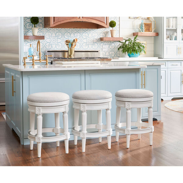 Chapman Alabaster White Backless Counter Height Stool, image 5