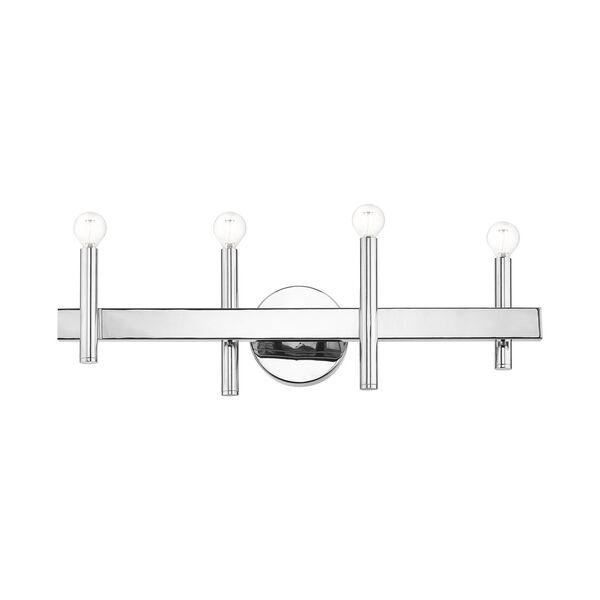Denmark Polished Chrome Four-Light Bath Vanity, image 3