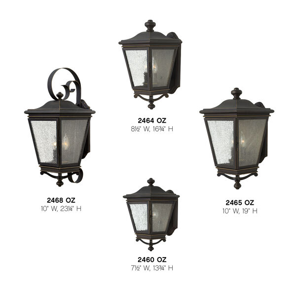 Lincoln Oil Rubbed Bronze 19-Inch Three-Light Outdoor Wall Sconce, image 4