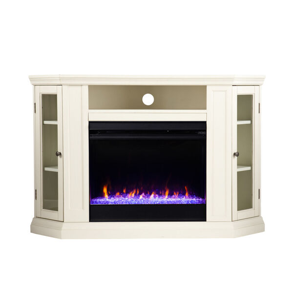 Claremont Ivory Color Changing Convertible Electric Fireplace, image 2