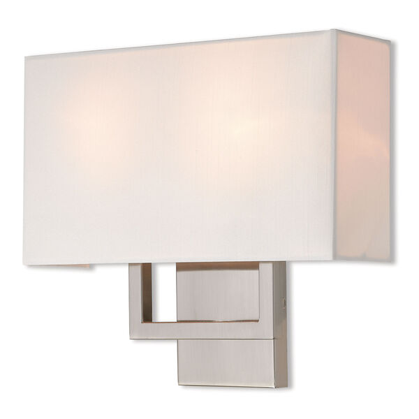 Pierson Brushed Nickel 13-Inch Two-Light Wall Sconce, image 1