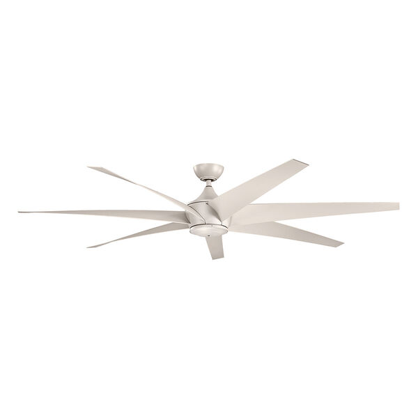 Lehr Antique Satin Silver Indoor and Outdoor Ceiling Fan, image 1