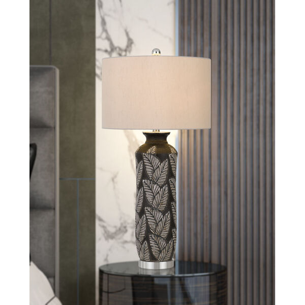 Shiloh Black and Gray One-Light Table Lamp, image 2