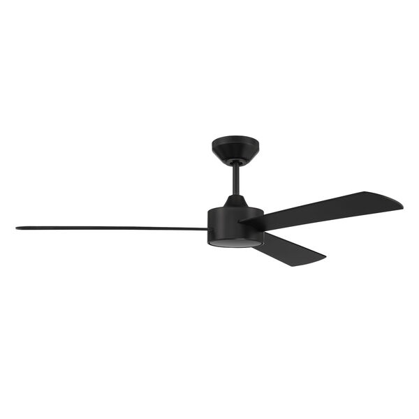 Provision Flat Black 52-Inch Ceiling Fan, image 1