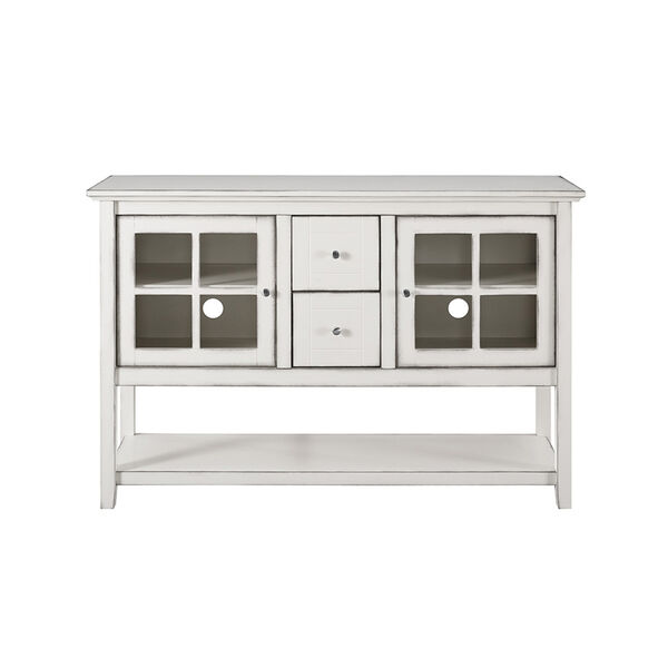 52-Inch Wood Console Table Buffet TV Stand - Antique White, image 5