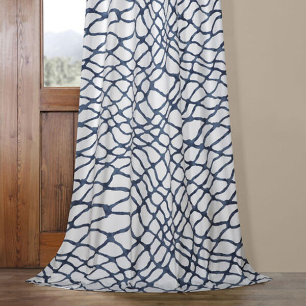 Ocean Blue 120 x 50 In. Printed Cotton Twill Curtain Single Panel, image 5