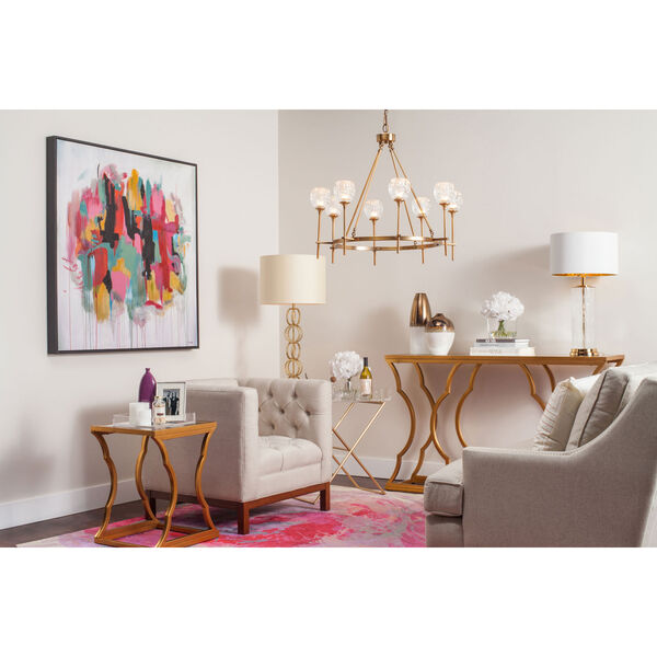 Monroe White and Copper Vase Set, image 2