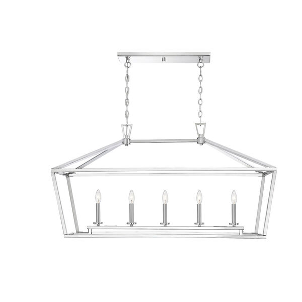 Townsend Polished Nickel Five-Light Pendant, image 1