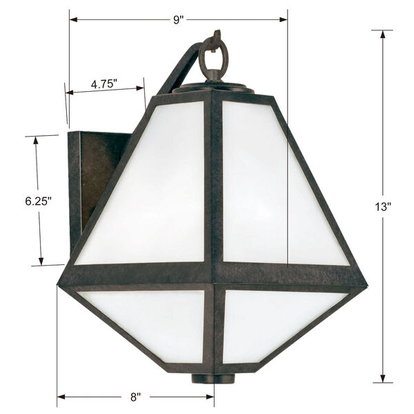 Glacier One-Light Black Charcoal Outdoor Wall Mount, image 4