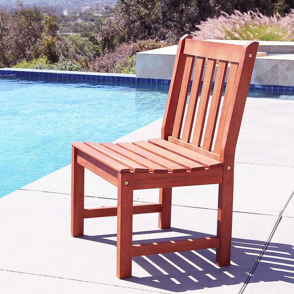 Malibu Eco-friendly Outdoor Hardwood Garden Armless Chair, image 2