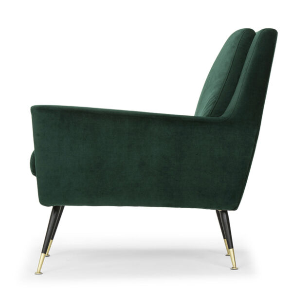 Vanessa Emerald Green and Black Occasional Chair, image 3