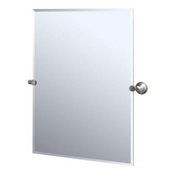 Tiara Satin Nickel Tilting Rectangular Mirror, image 1