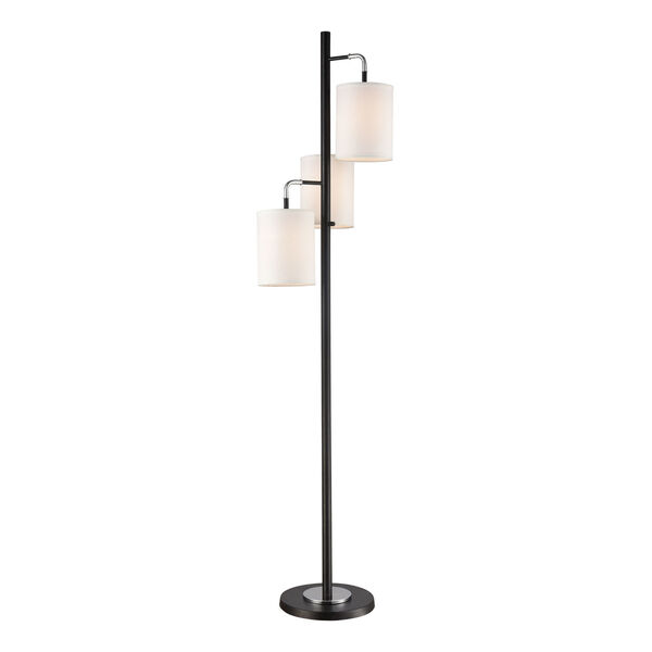 Uprising Black Chrome Three-Light Floor Lamp, image 1