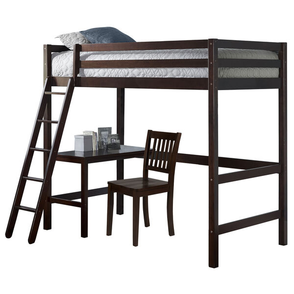 Caspian Chocolate Twin Study Loft With Chair, image 2