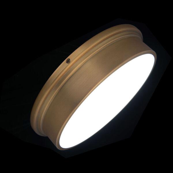 York Aged Brass 8-Inch LED Flush Mount, image 4