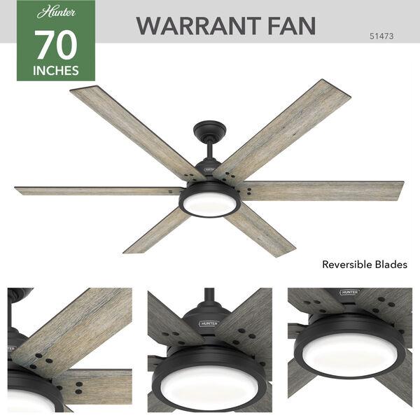 Warrant Matte Black 70-Inch LED Ceiling Fan, image 4