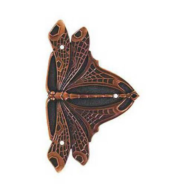 Antique Copper Dragonfly Hinge Plate, image 1