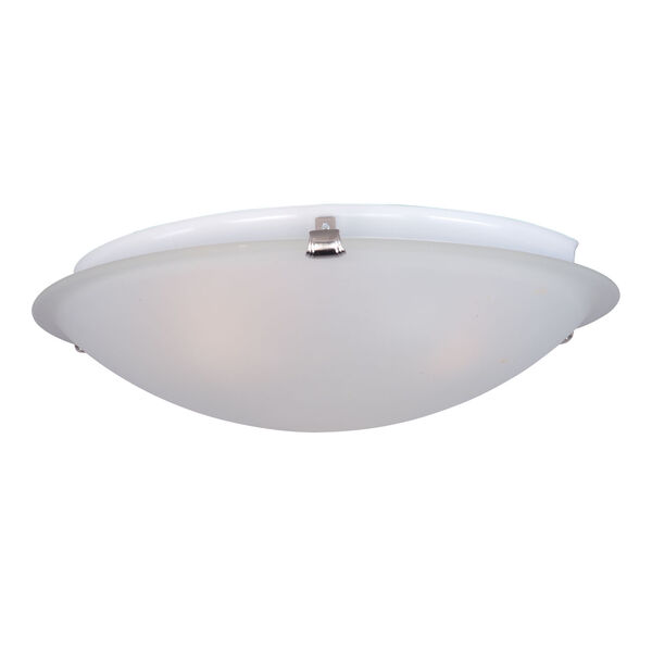 Malaga Satin Nickel Two-Light Twelve-Inch Flushmount with Frosted Glass, image 1