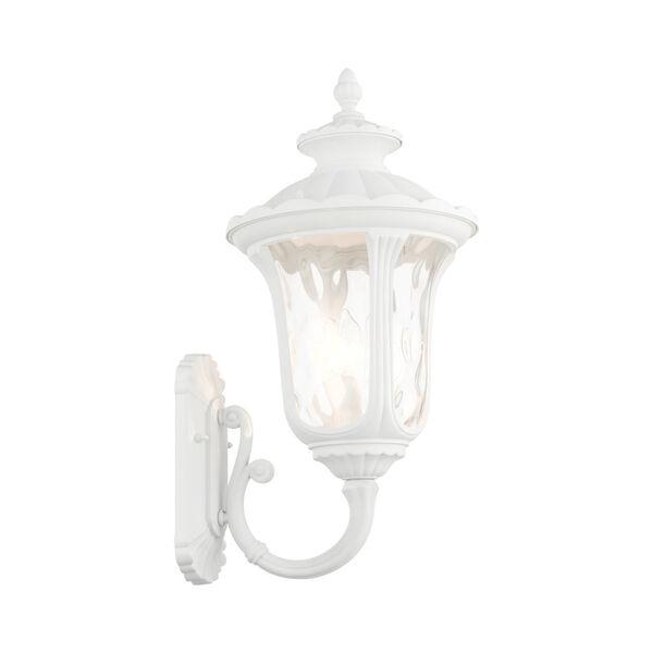 Oxford Textured White Three-Light Outdoor Wall Lantern, image 5