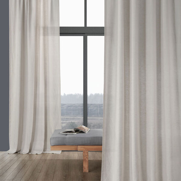 Signature Birch French Linen Sheer Single Panel Curtain Panel, 50 X 96, image 2
