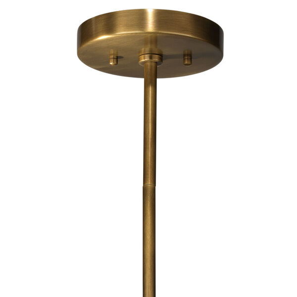 Orbit Antique Brass Four-Light Chandelier, image 2