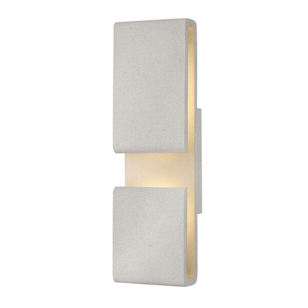 Contour Cement Gray Six-Inch LED Wall Mount, image 1