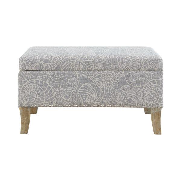 Bentley Rustic Gray Upholstered Storage Bench, image 4