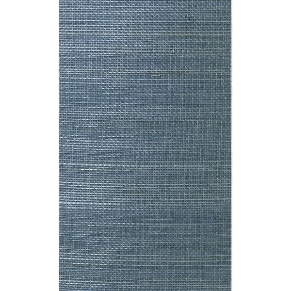 Lillian August Luxe Retreat Bluestone Abaca Grasscloth Unpasted Wallpaper, image 1