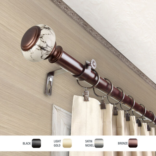 Kelly Bronze 160-240 Inch Curtain Rod, image 3