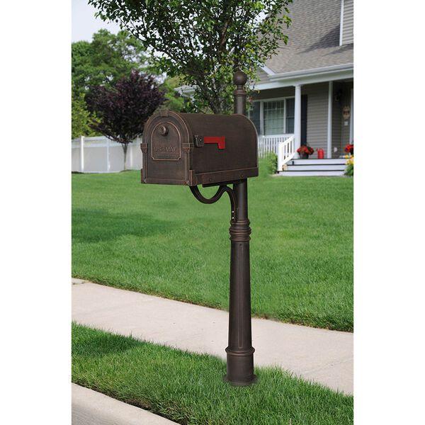 Savannah Copper Curbside Mailbox with Ashland Mailbox Post Unit, image 2
