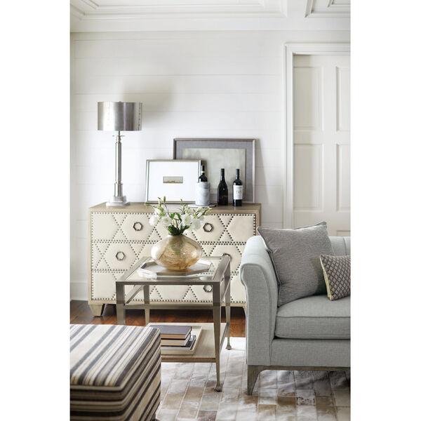 Santa Barbara Sandstone White Oak Veneers and Fabric Drawer Chest, image 4