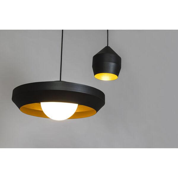 Hoxton Black and Gold One-Light Mini Pendant, image 2