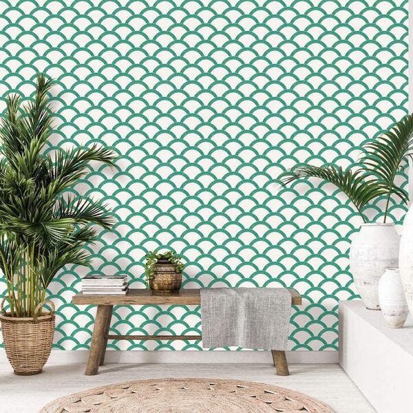 Mosaic Scallop Emerald 28 Sq. Ft. Peel and Stick Wallpaper, image 6