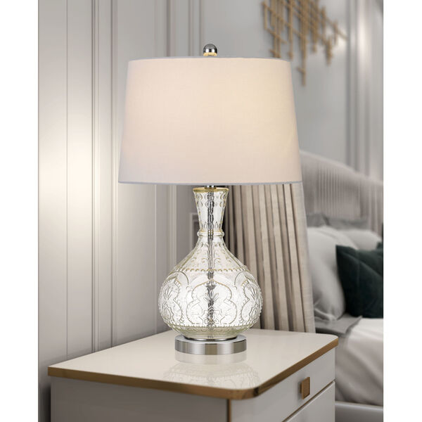Nador Clear and White One-Light Table lamp, image 2