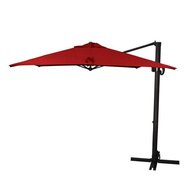 Cali Bronze with Jockey Red Nine-Feet Sunbrella Patio Umbrella, image 1