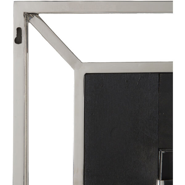 Allure Gray and Silver 32-Inch Wall Mirror, image 4