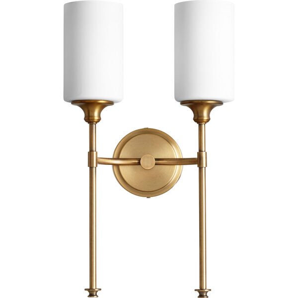 Celeste Aged Brass Two-Light 11-Inch Wall Mount, image 1