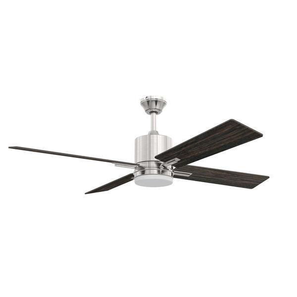 Teana Brushed Polished Nickel Ceiling Fan with LED Light, image 1