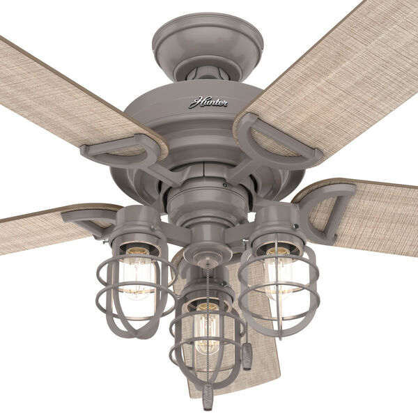 Starklake Quartz Grey 52-Inch Outdoor LED Ceiling Fan, image 4
