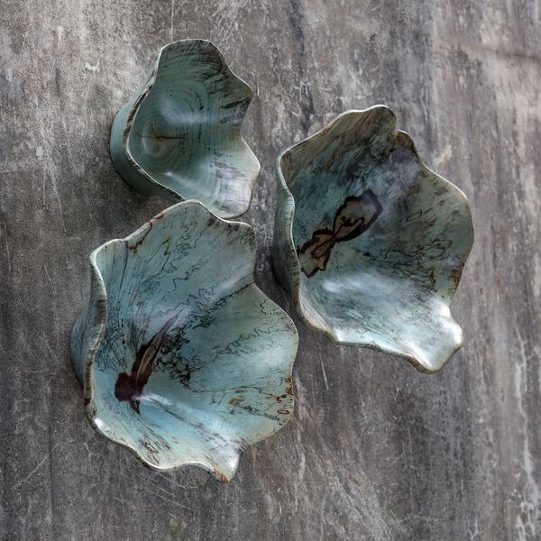 Teo Caribbean Blue Green Wood Wall Art , image 1
