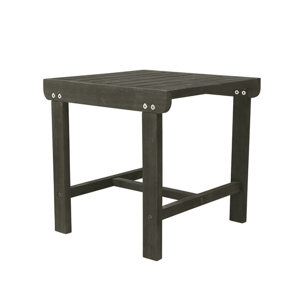Renaissance Grey Outdoor Wood Side Table, image 1